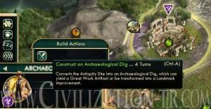 Arjeolojik kazı başlatma civilization