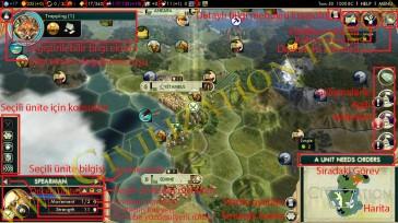 Oyun ekranı civilization 5